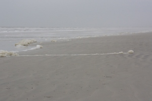 A grey day on St Augustine Beach